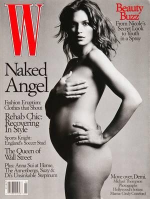 Σίντι Κρόφορντ, 1999. Το top model και ο απόγονος της στο εξώφυλλο του W τον Ιούνιο του '99.