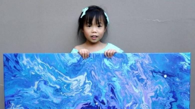 Η 5χρονη ζωγράφος που δωρίζει έργα της και βοηθά (Pics)