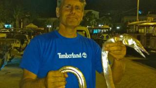 Ναύπλιο: Αλιεύτηκε «ψάρι - φίδι» (pics)