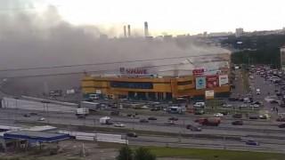 Μεγάλη πυρκαγιά σε εμπορικό κέντρο της Μόσχας (vids)