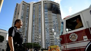 Χαβάη: Φωτιά σε πολυκατοικία 36 ορόφων (Pics&vids)