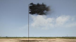 Η «Σημαία της Δύσης» του Τζον Τζέραρντ από διοξείδιο του άνθρακα