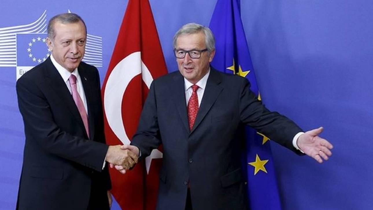 Κάλεσμα Γιούνκερ σε Ερντογάν: Το χέρι της Ευρώπης παραμένει απλωμένο