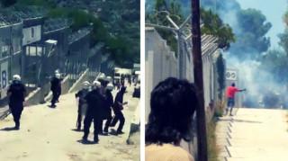 Κατεστάλη η εξέγερση Αφρικανών μεταναστών στη Μόρια - Πέντε τραυματίες αστυνομικοί