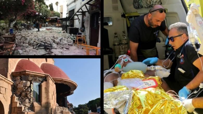 Η Κως μετρά τις πληγές της μετά τον ισχυρό σεισμό (pics&vids)