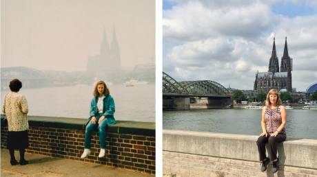 Μια γυναίκα ταξιδεύει 30 χρόνια πίσω μέσα από φωτογραφίες