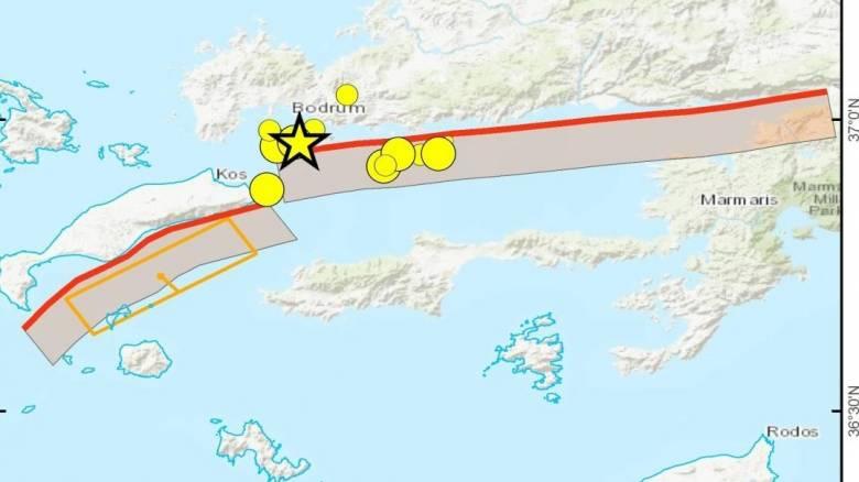 Σεισμός στην Κω: Ποιο είναι το ρήγμα που προκάλεσε τη φονική σεισμική δόνηση (pic)