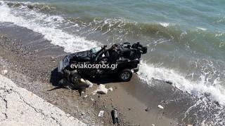 Πολύνεκρο τροχαίο στην Κύμη - Αυτοκίνητο έπεσε από γκρεμό (pics)