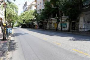 Άδειοι οι δρόμοι της Αθήνας