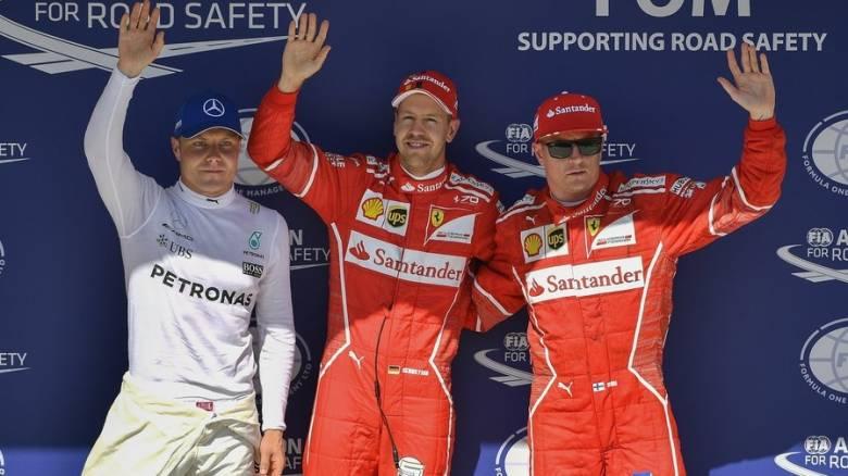 F1: Κυριαρχία της Ferrari στις κατατακτήριες με Φέτελ-Ραϊκόνεν στην Ουγγαρία (vid)