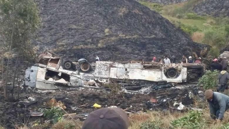 Μαδαγασκάρη: Τουλάχιστον 34 νέοι σκοτώθηκαν όταν λεωφορείο έπεσε σε γκρεμό