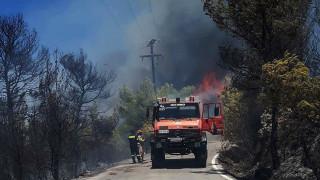 Μαίνεται η μεγάλη πυρκαγιά στις Σπέτσες - Φοβούνται αναζωπυρώσεις στην Ανάβυσσο (pics&vids)