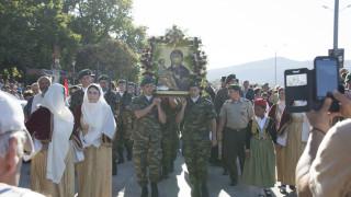 Στον Σταυρό του Δήμου Βόλβης η εικόνα της Παναγίας Τριχερούσας