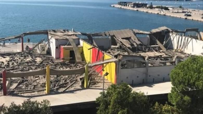 Κατέρρευσε στέγαστρο στο παλιό λιμάνι της Πάτρας - Ένας νεκρός άντρας