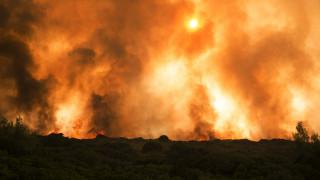 Συνεχίζεται η μάχη με τις φλόγες στα Κύθηρα (pics&vid)