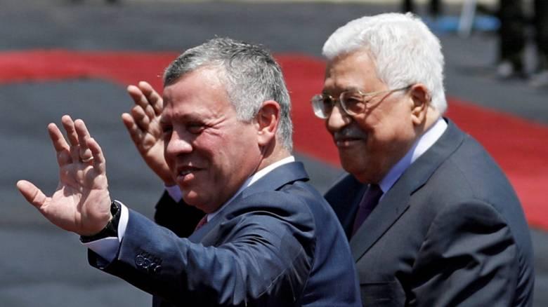 Επίσκεψη του βασιλιά της Ιορδανίας στον παλαιστίνιο Πρόεδρο εν μέσω εντάσεων με το Ισραήλ