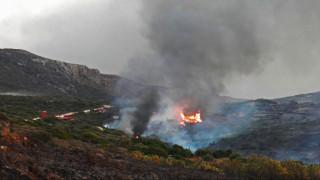Νέος συναγερμός στα Κύθηρα - Αναζωπυρώθηκε η μεγάλη φωτιά