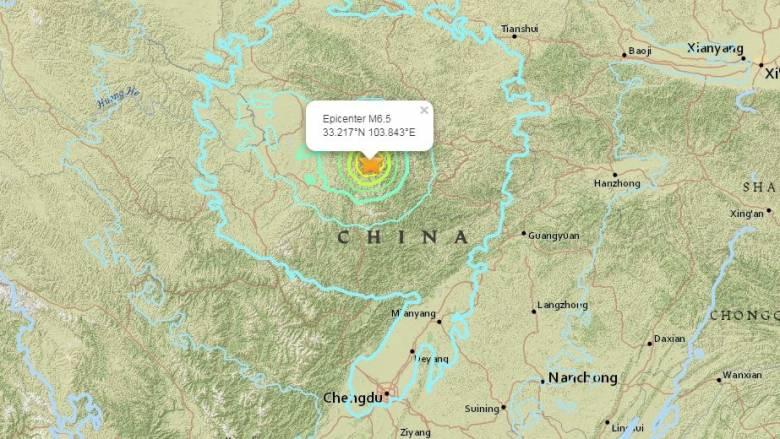 Ισχυρός σεισμός έπληξε την Κίνα