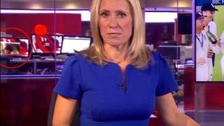 Στο δελτίο ειδήσεων του BBC εμφανίστηκε μια γυμνόστηθη (vid)