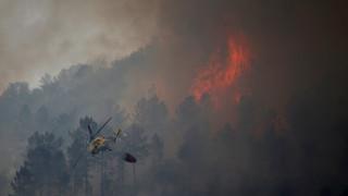 Μεγάλες πυρκαγιές μαίνονται στην κεντρική Πορτογαλία και την Κορσική