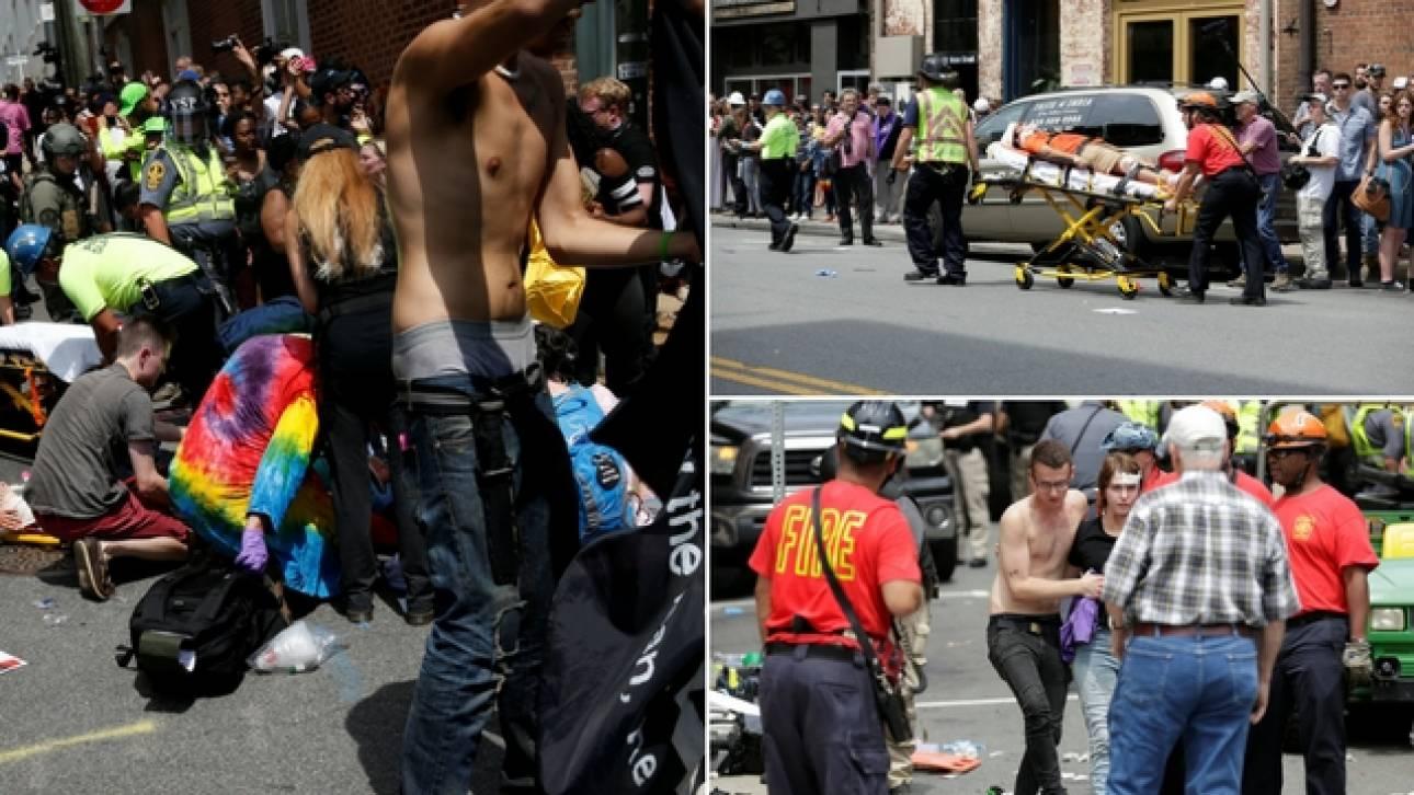 Χάος στις ΗΠΑ - Αυτοκίνητο έπεσε πάνω σε διαδηλωτές στη Βιρτζίνια (pics&vids)