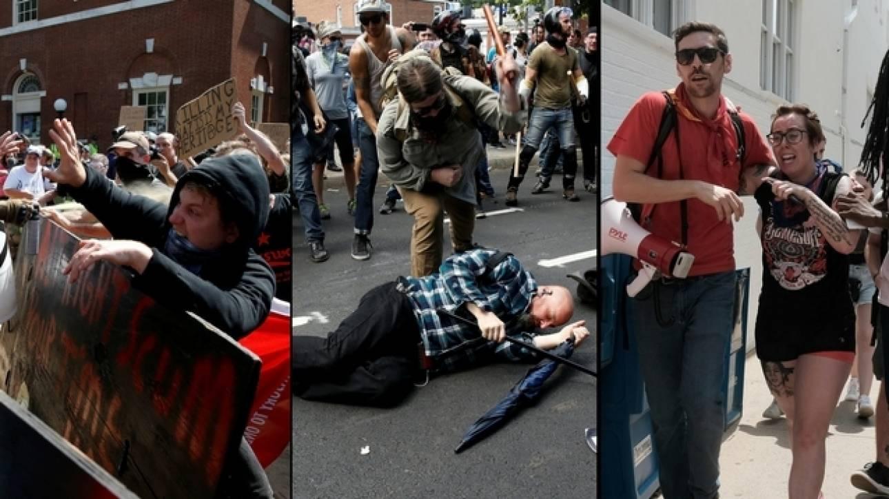 Αποτέλεσμα εικόνας για βίαια επεισόδια  στη Βιρτζίνια