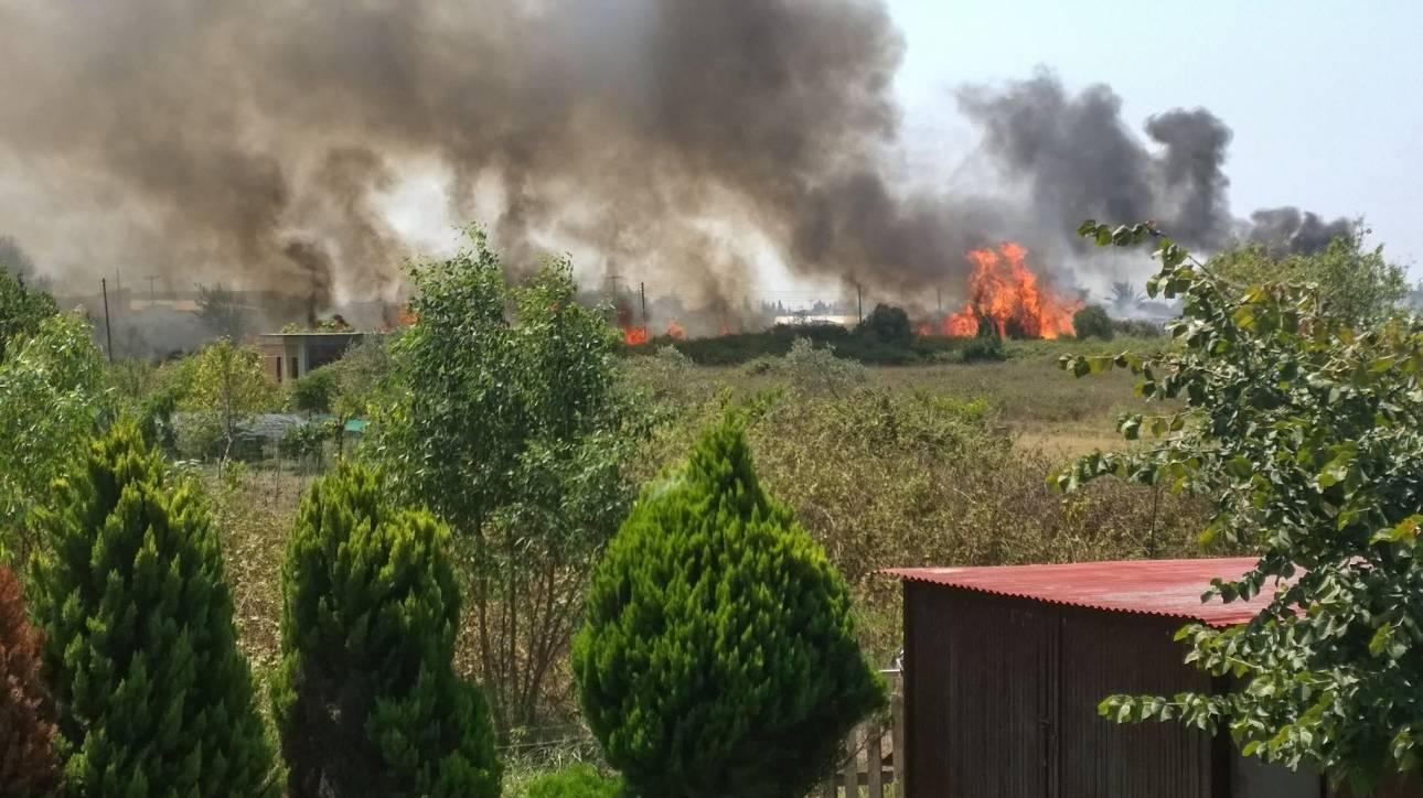 Ζάκυνθος: Έξω από τον Αγαλά η φωτιά – Αντιμέτωποι με ισχυρούς ανέμους οι πυροσβέστες (pics&vids)