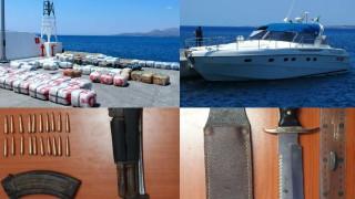 Βρέθηκαν και όπλα στο σκάφος  με τους δύο τόνους ινδικής κάνναβης (pics)
