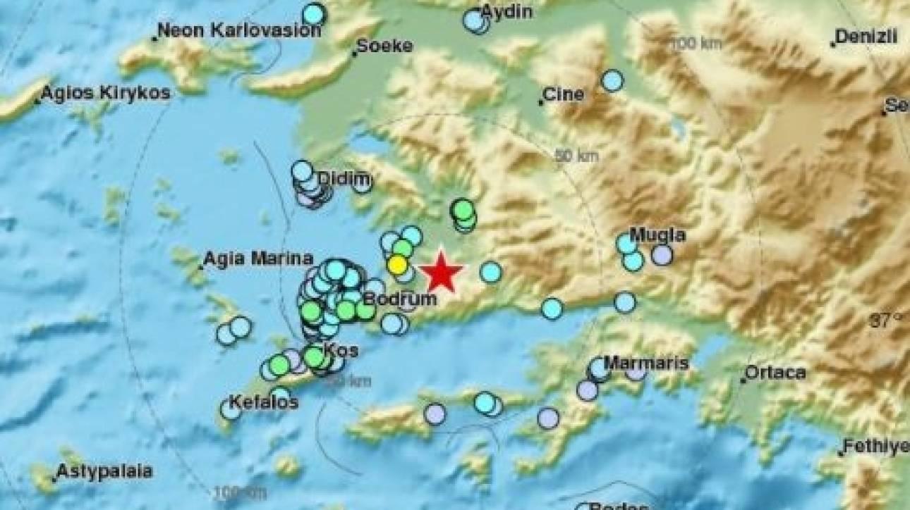 Ισχυρός σεισμός 50 χιλιόμετρα από την Κω