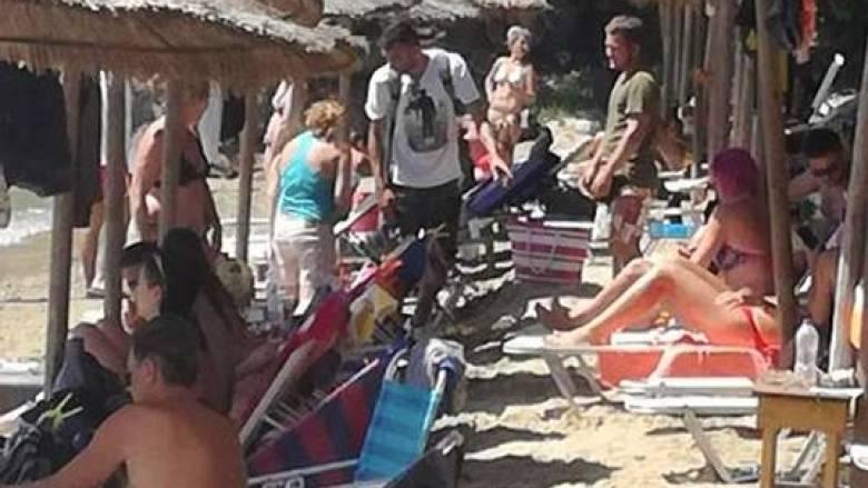 Το ΣΔΟΕ κάνει «φύλλο και φτερό» παραλία της Σκιάθου (pics)