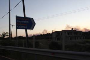 Η πυρκαγιά στον Κάλαμο από την Εθνική Οδό Αθηνών - Λαμίας