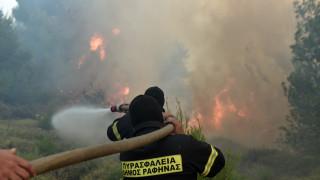 Συγκλονιστικές εικόνες: Η μάχη των πυροσβεστών με τις φλόγες στον Βαρνάβα