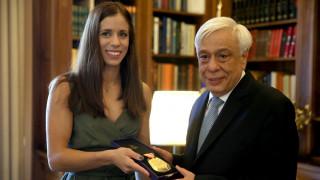 Στο Προεδρικό Μέγαρο η Κατερίνα Στεφανίδη (pics)