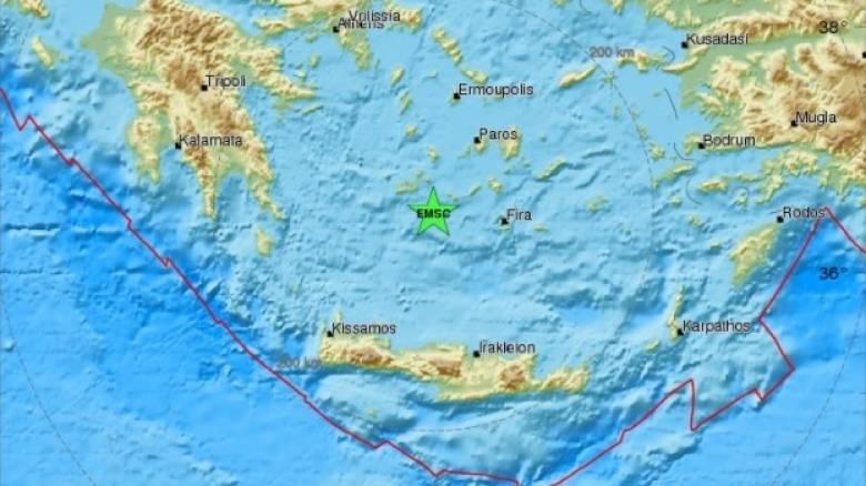 Σεισμός μεταξύ Μήλου και Φολεγάνδρου