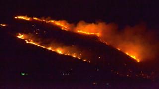 Ολονύχτια μάχη με τις φλόγες στην Κεφαλλονιά (pics)