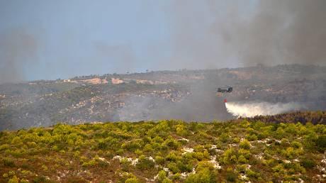 Επί 216 ώρες πετούσαν τα αεροσκάφη της Πολεμικής Αεροπορίας για την κατάσβεση των πυρκαγιών