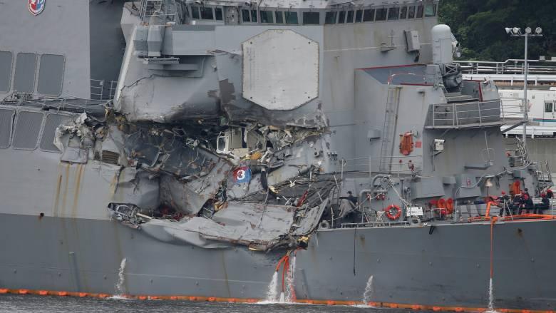 Πολεμικό ναυτικό ΗΠΑ: Βαριά «καμπάνα» για τη σύγκρουση αντιτορπιλικού με ιαπωνικό φορτηγό