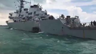 Αντιτορπιλικό του αμερικανικού Ναυτικού συγκρούστηκε με δεξαμενόπλοιο