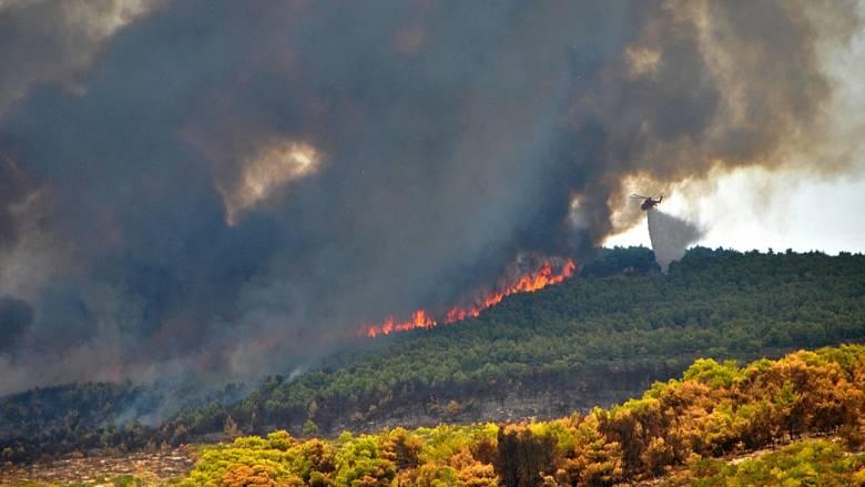 Δύο πυρκαγιές στην Ζάκυνθο