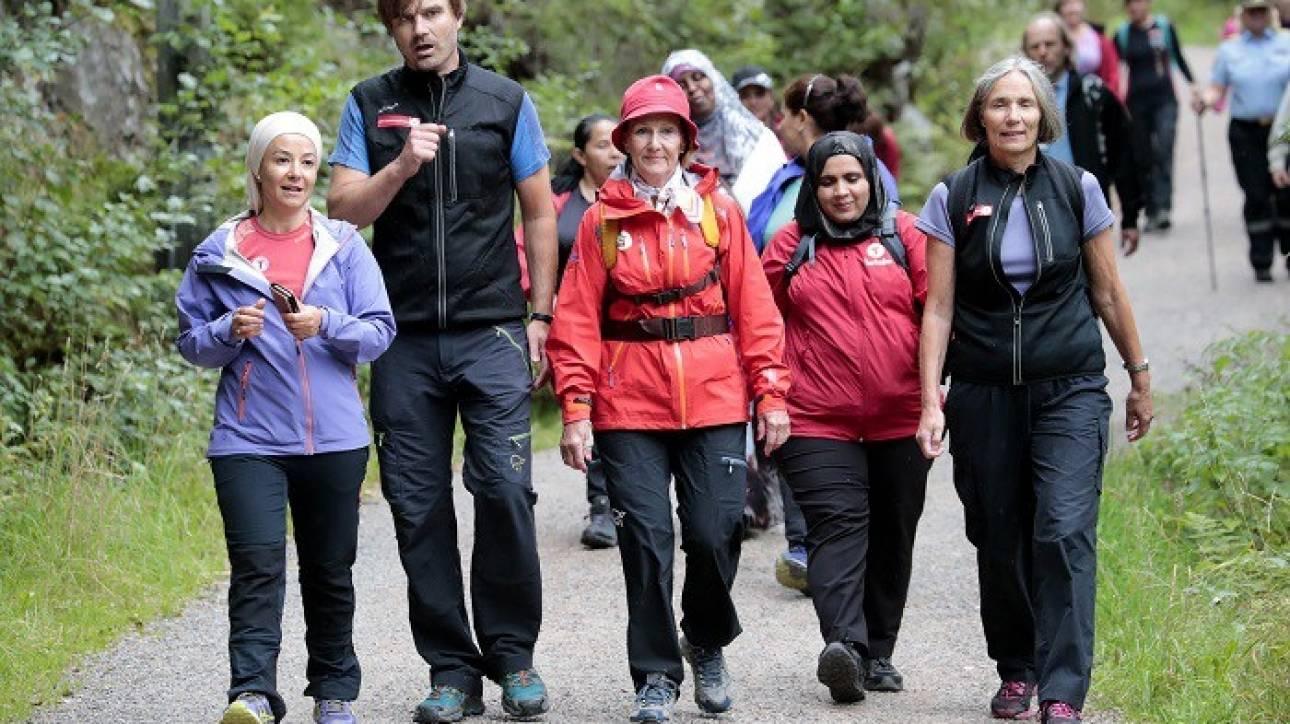Η 80χρονη βασίλισσα της Νορβηγίας πήρε τα...βουνά!