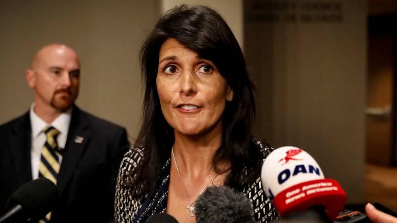 Χέιλι: Φτάνει πια, ο ΟΗΕ πρέπει να αναλάβει σοβαρή δράση κατά της Βόρειας Κορέας