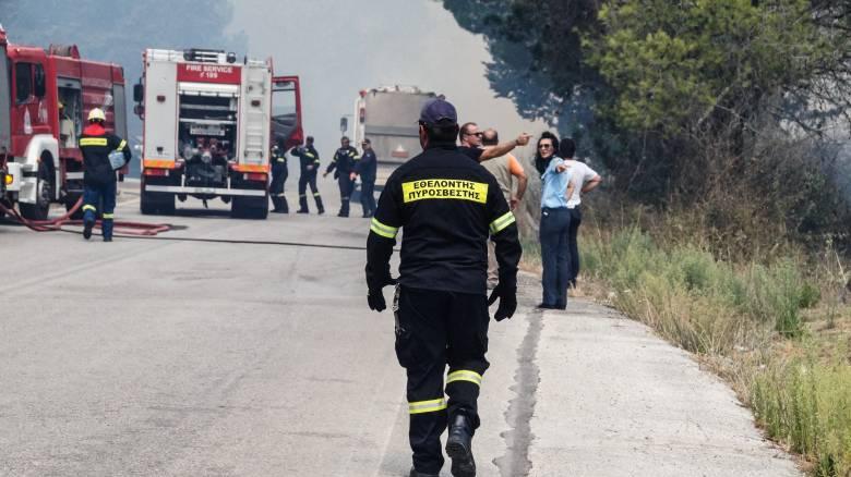Φωτιά ξέσπασε σε αγροτοδασική περιοχή μεταξύ Ροδόπης και Ξάνθης