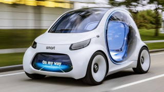 To ηλεκτρικό Smart Vision EQ fortwo δεν χρειάζεται τιμόνι και πεντάλ