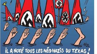 Προκλητικό εξώφυλλο του Charlie Hebdo: «Ο Θεός έπνιξε όλους τους νεοναζί του Τέξας» (pic)
