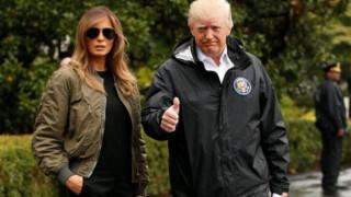 Πίσω στο πλημμυρισμένο Τέξας ο πρόεδρος Τραμπ