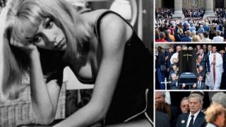 Το τελευταίο αντίο στην Μιρέιγ Νταρκ – Συντετριμμένος ο Αλέν Ντελόν (pics)