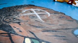 Βανδάλισαν το γκράφιτι με τον Γιάννη Αντετοκούνμπο στα Σεπόλια (pics)