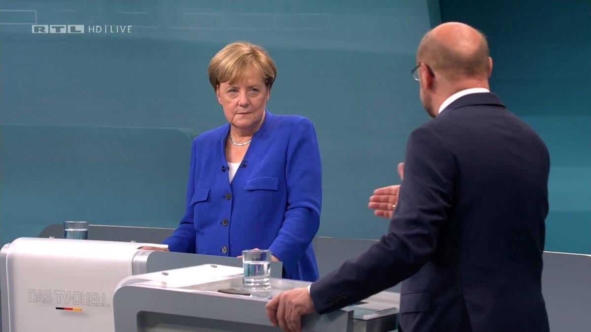 2017 09 03T194419Z 320501710 RC133ADDFFD0 RTRMADP 3 GERMANY ELECTION MERKEL SCHULZ DEBATE