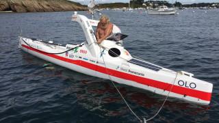 Εβδομηντάχρονος διέσχισε με καγιάκ τον Ατλαντικό για τρίτη φορά (Vid)