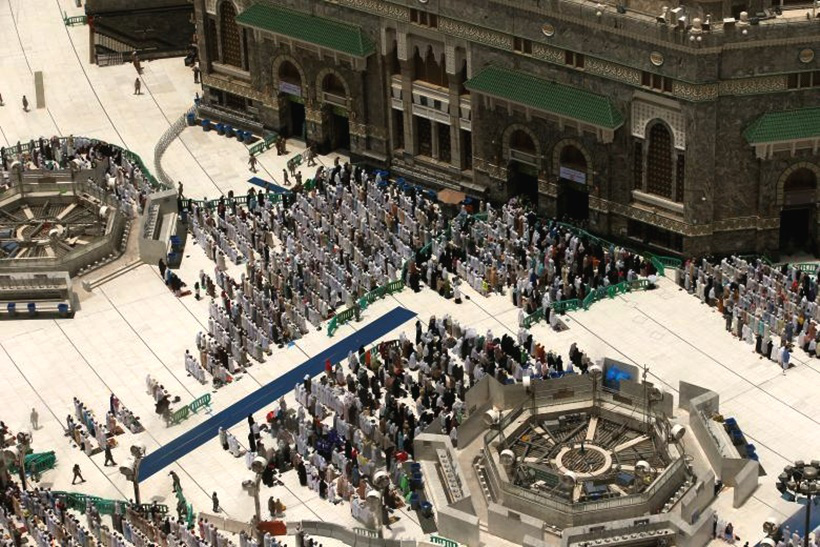 Muslims attend Friday prayers at the Grand mosque before the beginning of the annual Haj pilgrimage. SourceReutersSuhaib Salem